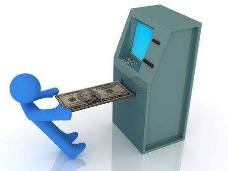 3d render of atm machine. Finance concept. Stock Photo - 4794713