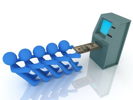 3d render of atm machine. Finance concept.