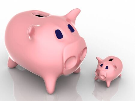 plaything: 3d render of piggy bank. Finance concept.