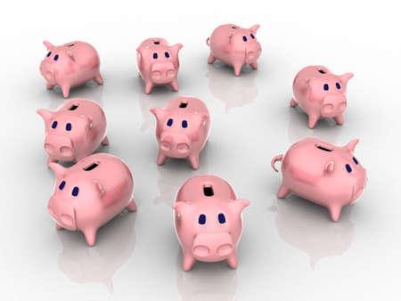 3d render of piggy bank. Finance concept.