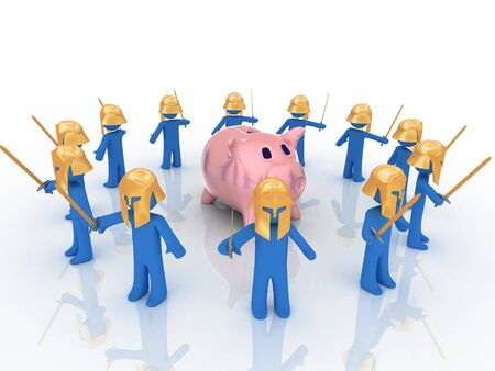 3d render of piggy bank. Finance concept. photo