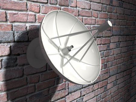 3d render of Satellite dish. Communication concept. Stock Photo - 4992761