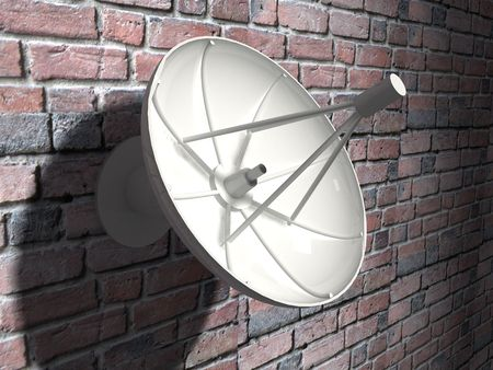 3d render of Satellite dish. Communication concept. Stock Photo - 4992761