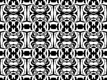 Vector illustration of abstract black and white pattern.