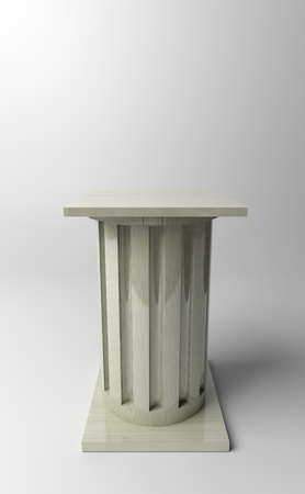 3d rendered pedestal. Put on exhibition your object.  Stock Photo