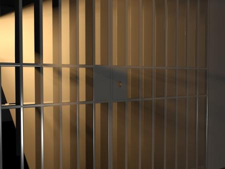 preso: 3d ilustraci�n de la luz del sol y de la jaula. Libertad concepto.