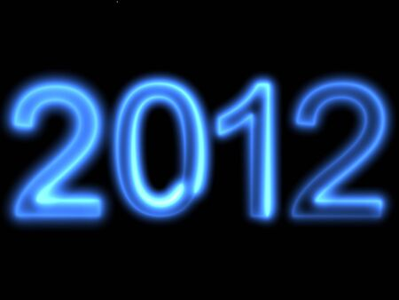 3d render of a blue text 2012. Stock Photo