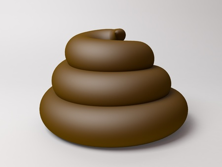 crap: 3d render of a poop. Stock Photo