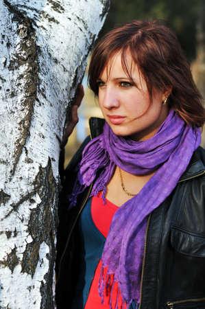 Near a birch photo