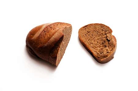The cut slice of bread  Stock Photo