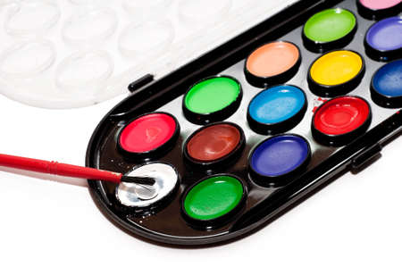 Multi-colored water color paints for drawing