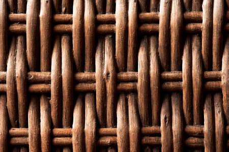 A woven background of cane or wicker