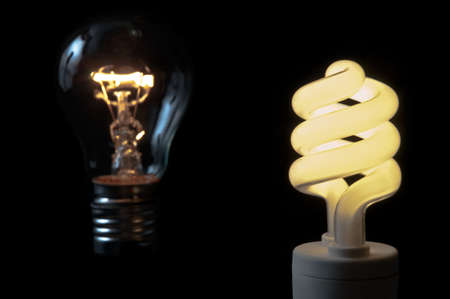 a compact fluorescent light bulbs saves money in comparison with a usual lamp