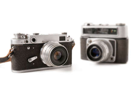Two old compact photo camera  Stock Photo