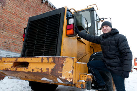 Machinery driver in winter