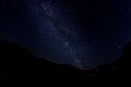 Milky Way over the Nivolet Pass in August
