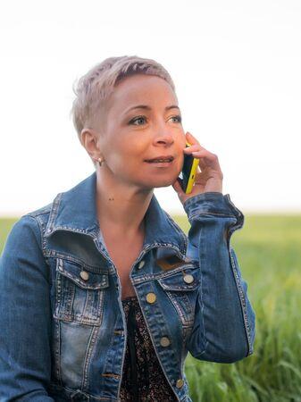 hopefulness: Mature Woman on the phone