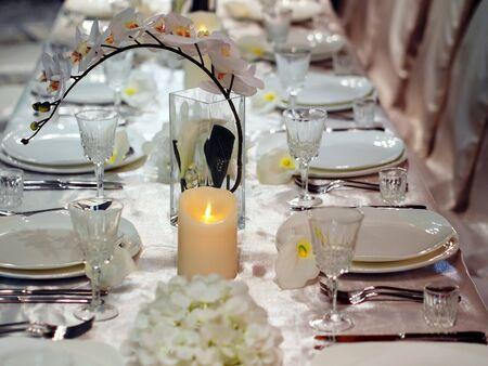 luxus: Beautiful table setting