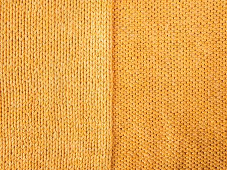 purl: orange knitted Jersey as a textile background Stock Photo