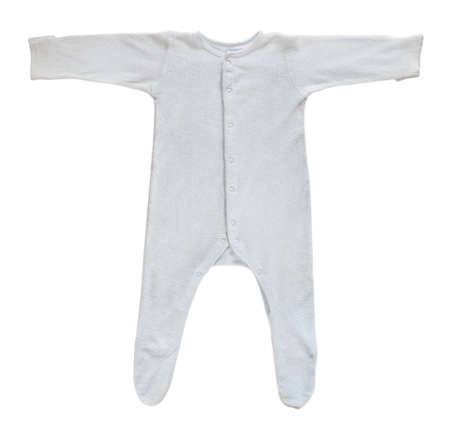 sleeper: Blue baby sleeper clothes isolated on white background