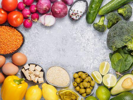 Colorful food background Фото со стока
