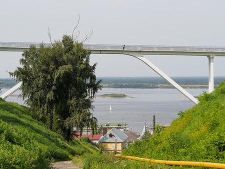 footbridge in nizhniy novgorod