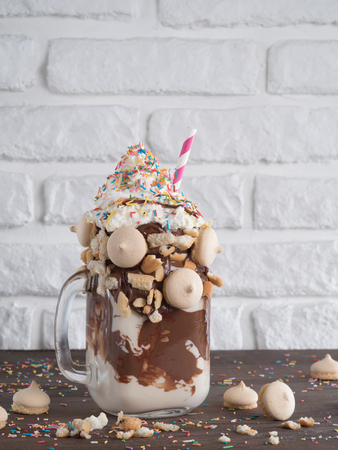 freaked: freakshake with copy space Stock Photo