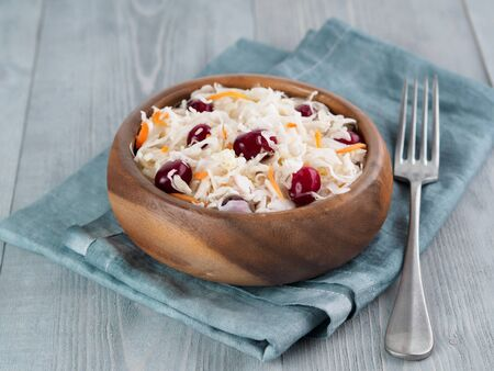 Sauerkraut with cranberry and carrot