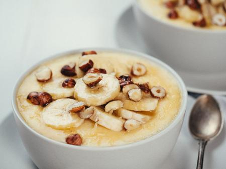 Sweet corn polenta porridge Stock Photo