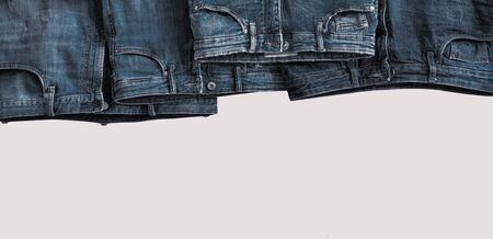 Jeans pants, copy space for text