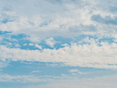 Blue sky with clouds. Cloudscape with copy space for text or design 写真素材