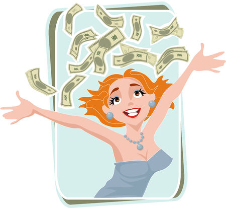 positives: woman with lots of money