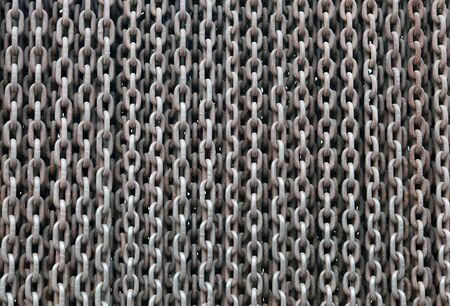 iron curtain: The Iron Curtain. Background made from rusty chain Stock Photo