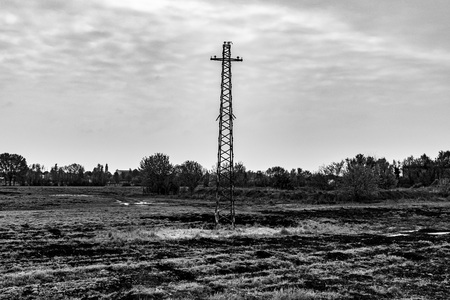 Cable-free light pylon, in black and white seems to insinuate a future without communication