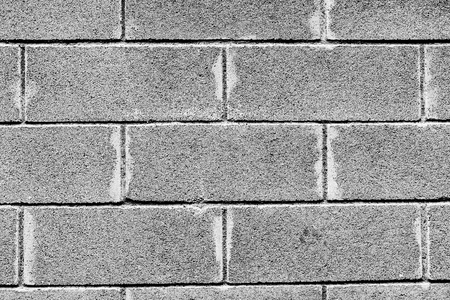 closeup of brick wall in black and white