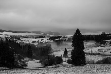 image of the snowy Asiago plateau, Veneto, Italy.