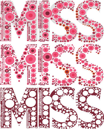 quoted: We see the font miss work  nested large and small, red, burgundy polka dots decorated with a design in black color  on a white
