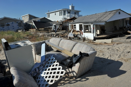 breezy: NEW YORK, NY - NOVEMBER 09: Scenes of Hurricane Sandys aftermath in the Breezy Point part of Far Rockawayon November 9, 2012 in the Queens borough of New York City.  Editorial