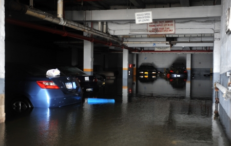 BROOKLYN, NY - OCTOBER 29: Seriouse flooding in the buildings at the Sheapsheadbay neighborhood due to impact from Hurricane Sandy in Brooklyn, New York, U.S., on Tuesday, October 30, 2012.   Stock Photo - 16816704