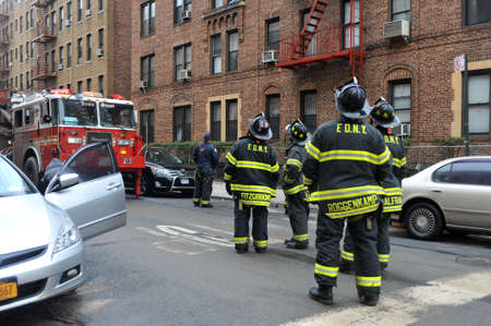 BROOKLYN, NY - OCTOBER 29: NYC fire department working in the Sheapsheadbay neighborhood due to flooding from Hurricane Sandy in Brooklyn, New York, U.S., on Tuesday, October 30, 2012.   Stock Photo - 16816839