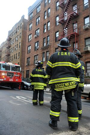 BROOKLYN, NY - OCTOBER 29: NYC fire department working in the Sheapsheadbay neighborhood due to flooding from Hurricane Sandy in Brooklyn, New York, U.S., on Tuesday, October 30, 2012.