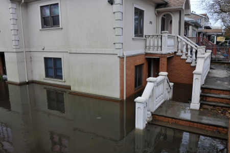 BROOKLYN, NY - OCTOBER 29: Seriouse flooding in the buildings at the Sheapsheadbay neighborhood due to impact from Hurricane Sandy in Brooklyn, New York, U.S., on Tuesday, October 30, 2012.   Stock Photo - 16816734