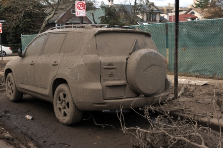 BROOKLYN, NY - NOVEMBER 01: Serious damage and dirt in the cas nd cars at the Seagate neighborhood due to impact from Hurricane Sandy in Brooklyn, New York, U.S., on Thursday, November 01, 2012. Stock Photo - 16816860