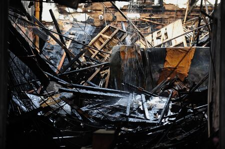 thursday: BROOKLYN, NY - NOVEMBER 01: Serious damage in the buildings from fire at the Brighton Beach neighborhood due to impact from Hurricane Sandy in Brooklyn, New York, U.S., on Thursday, November 01, 2012.    Editorial