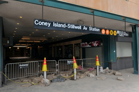 BROOKLYN, NY - NOVEMBER 01: Serious damage in the Subway at the Coney Island neighborhood due to impact from Hurricane Sandy in Brooklyn, New York, U.S., on Thursday, November 01, 2012.  