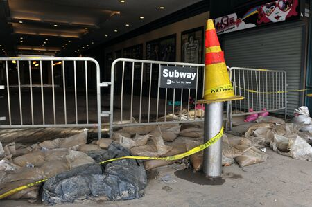 BROOKLYN, NY - NOVEMBER 01: Serious damage in the Subway at the Coney Island neighborhood due to impact from Hurricane Sandy in Brooklyn, New York, U.S., on Thursday, November 01, 2012.   Stock Photo - 16816782