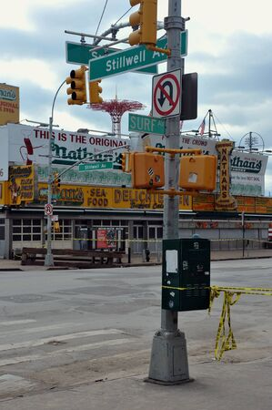 BROOKLYN, NY - NOVEMBER 01: Most of busineses closed at the Coney Island neighborhood due to impact from Hurricane Sandy in Brooklyn, New York, U.S., on Thursday, November 01, 2012.