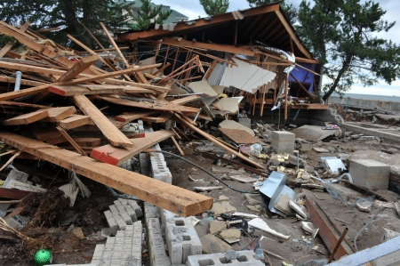BROOKLYN, NY - NOVEMBER 01: Serious damage in the buildings at the Seagate neighborhood due to impact from Hurricane Sandy in Brooklyn, New York, U.S., on Thursday, November 01, 2012. Stock Photo - 16816764
