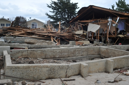 BROOKLYN, NY - NOVEMBER 01: Serious damage in the buildings at the Seagate neighborhood due to impact from Hurricane Sandy in Brooklyn, New York, U.S., on Thursday, November 01, 2012.