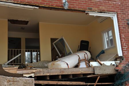 BROOKLYN, NY - NOVEMBER 01: Serious damage in the buildings at the Seagate neighborhood due to impact from Hurricane Sandy in Brooklyn, New York, U.S., on Thursday, November 01, 2012. Stock Photo - 16816705
